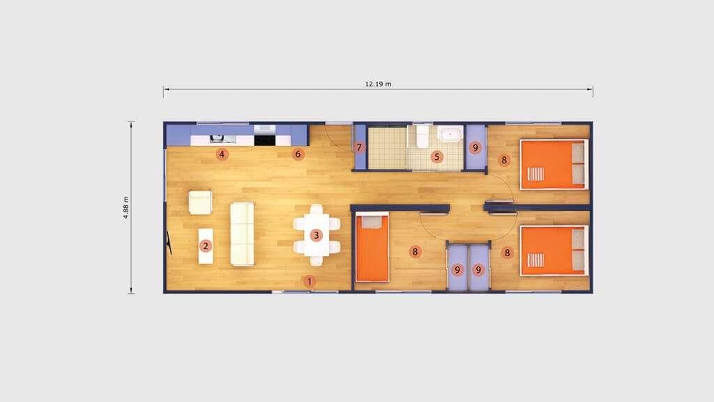Maison container une maison design en kit modulable et for Comment concevoir vos propres plans de maison