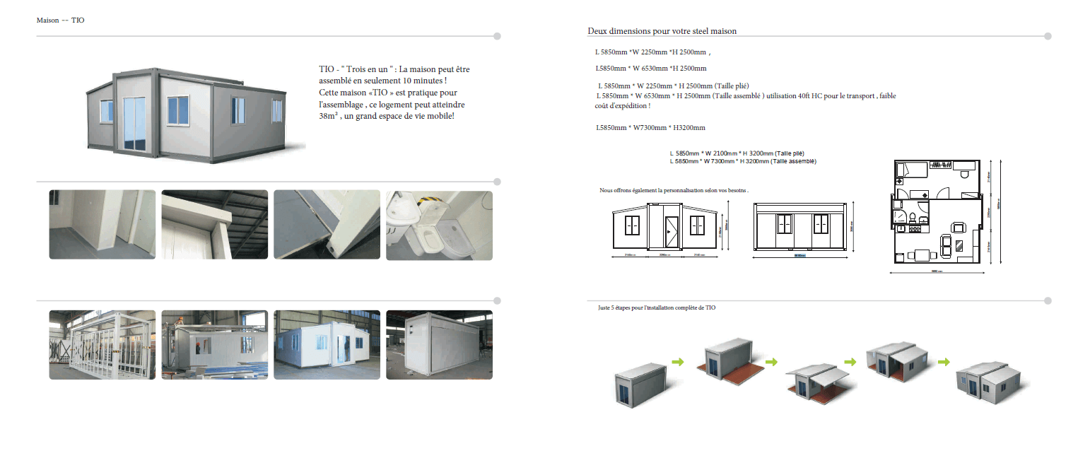 Plan & Construction d'une Maison Container Module - TIO - Home Container